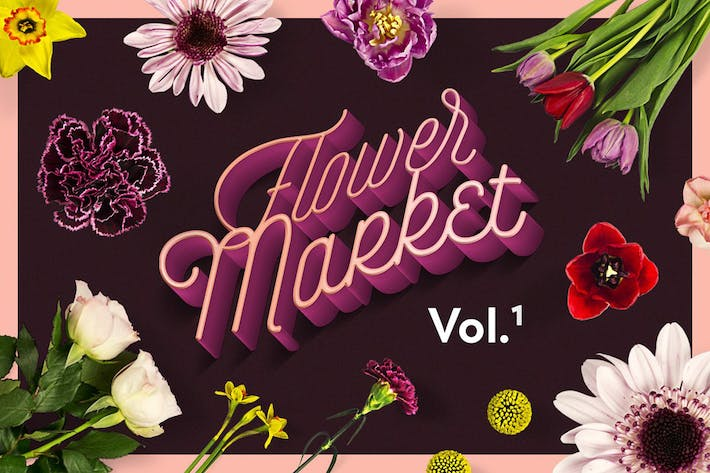 Thumbnail for Flower Market Clipart Collection