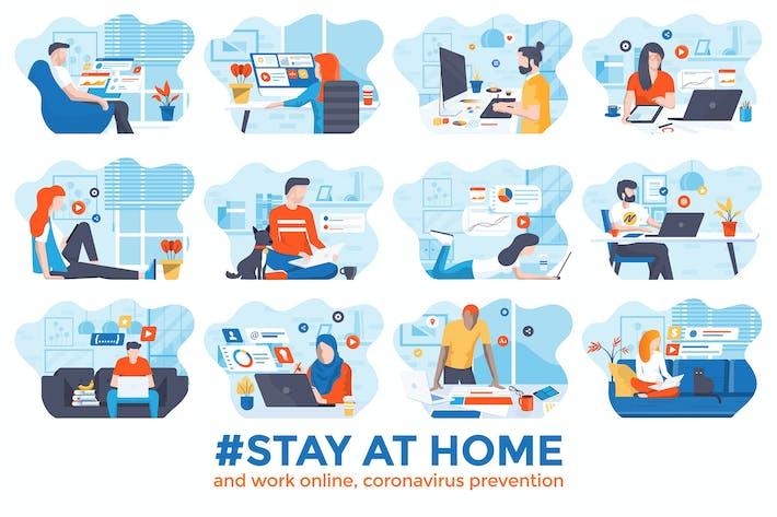 Thumbnail for Campagne de sensibilisation sur les médias sociaux Rester à la maison