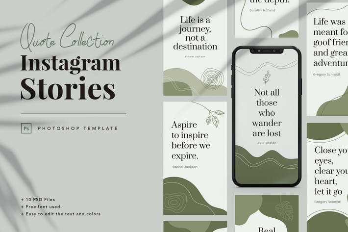 Thumbnail for Quote Collection Instagram Story Template