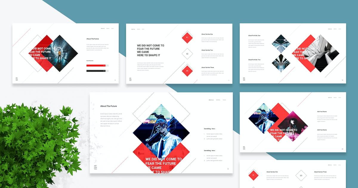 Download Futont - Futuristic Powerpoint Template by naulicrea