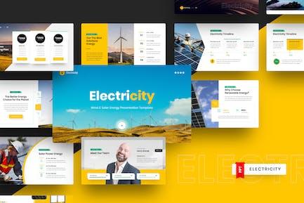 Plantilla PowerPoint de energía eólica y solar