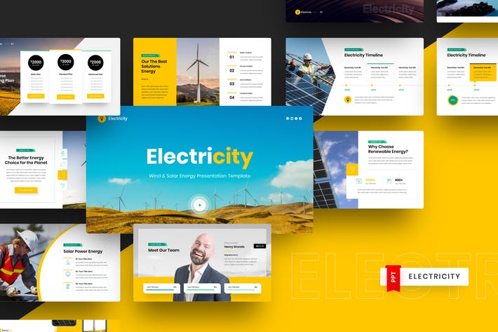Thumbnail for Wind & Solar Energy PowerPoint Template