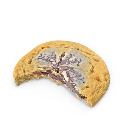 Cookie With Chocolate Cream Bitten