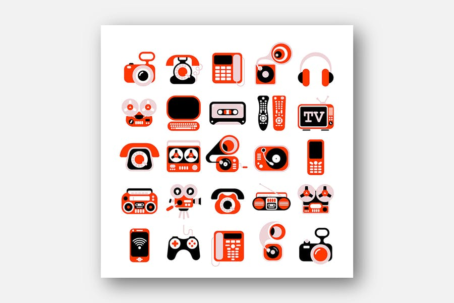 Electronic Devises Vector Icon Set