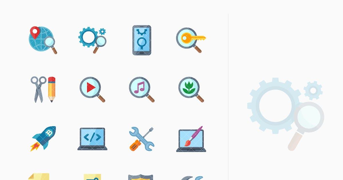 SEO & Internet Marketing Icons Set 1- Flat Series by introwiz1