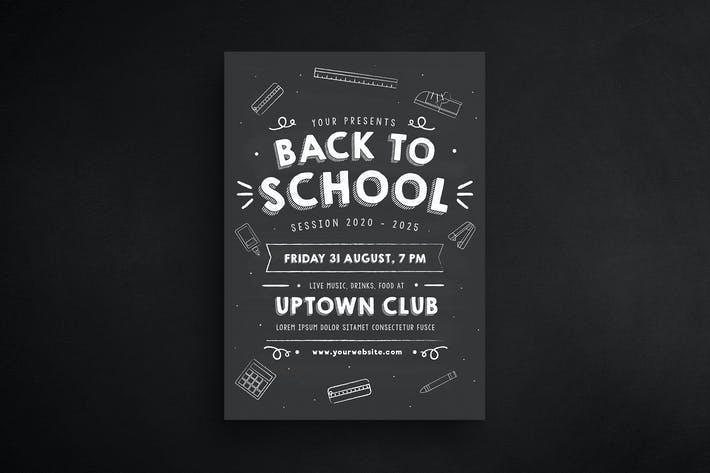 Cover Image For Back to school Chalkboard Style
