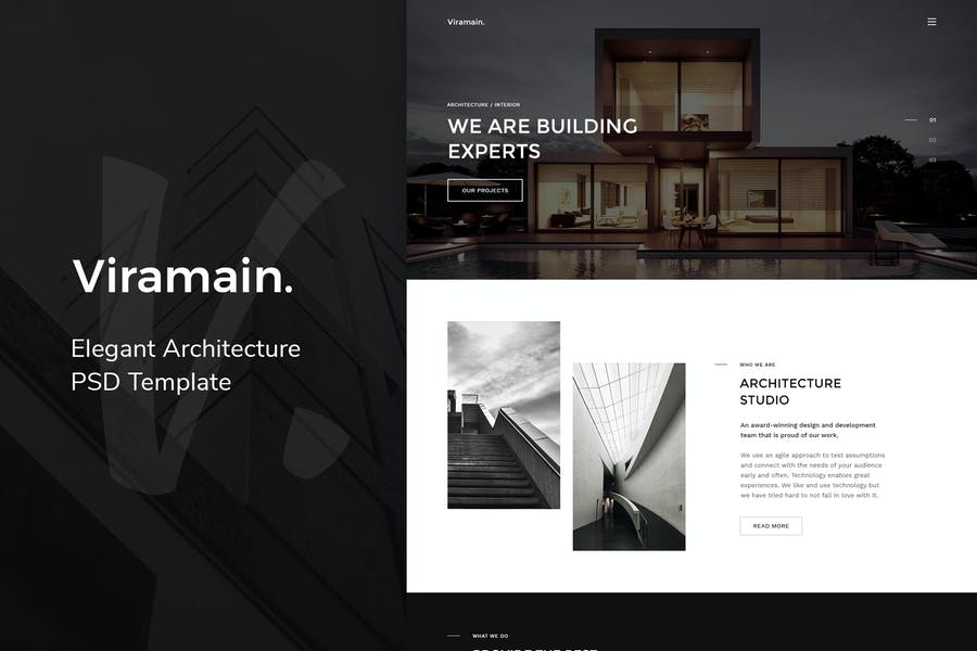 Viramain – Elegant Architecture PSD Template
