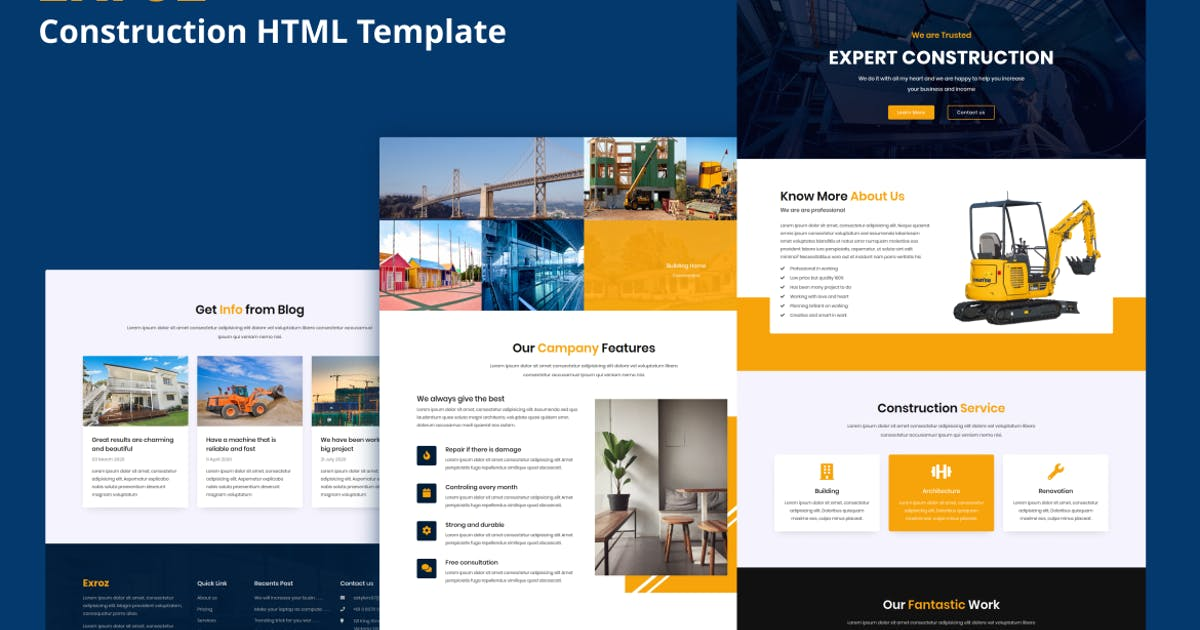Download Exroz - Construction Template by aStylers
