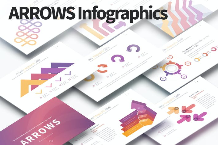 Thumbnail for ARROWS - PowerPoint Infographics Slides