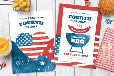 4th July Flyer / Poster / Menu Templates
