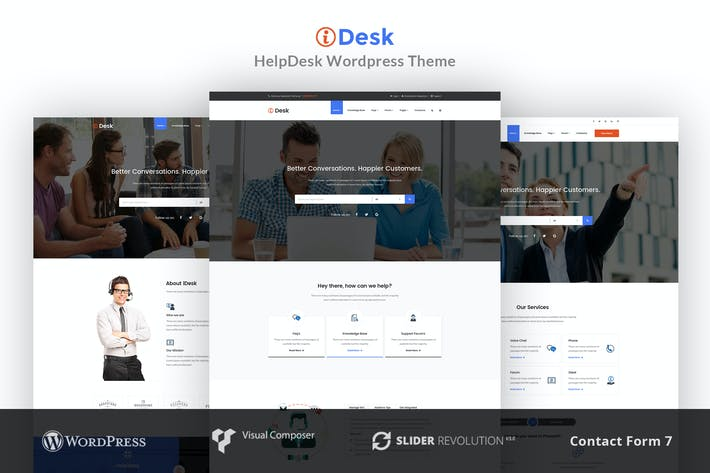 Thumbnail for iDesk - HelpDesk WordPress Theme