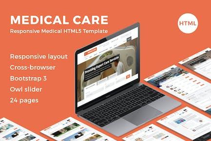 Medizinische Versorgung - Responsive Medical HTML5-Vorlage