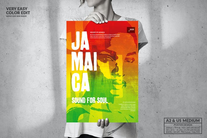 Thumbnail for Jamaica Music Event Party - Big Poster Design