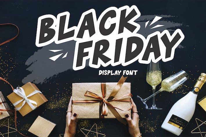Thumbnail for Black Friday - Display Font