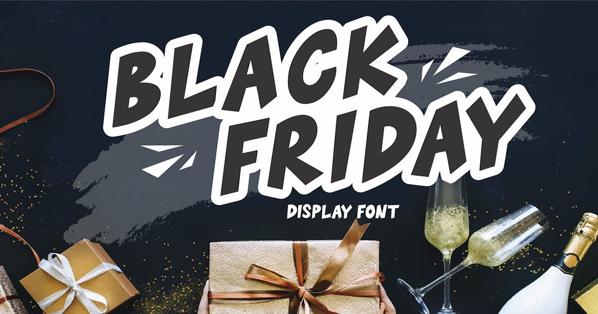 Download Black Friday - Display Font by CocoTemplates