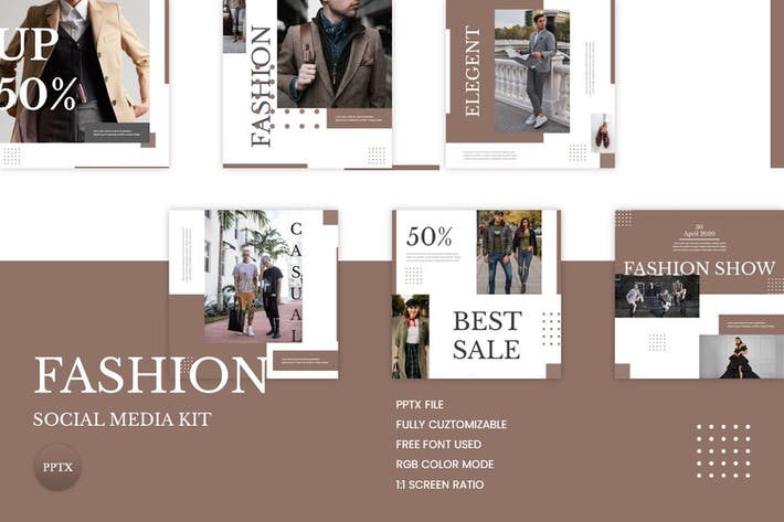 Thumbnail for Fashion Social Media Kit Vol. 01