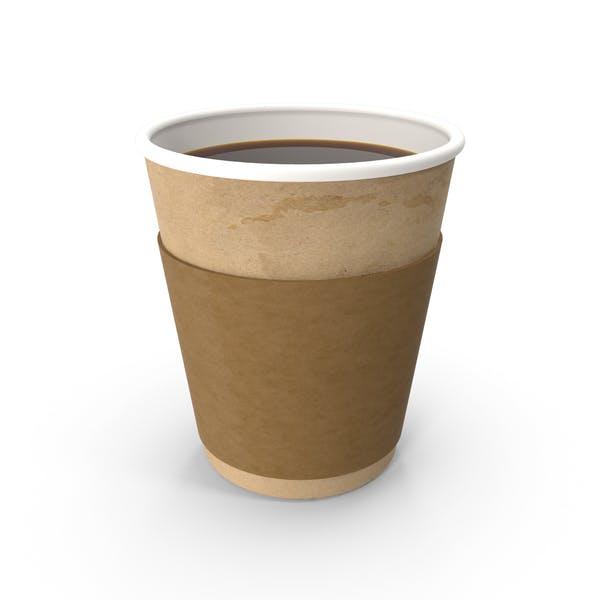 Кофе в бумажной чашке