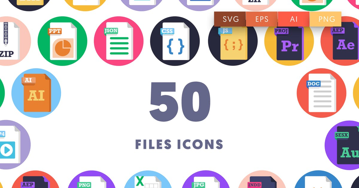 Download 50 Files Icons by thedighital