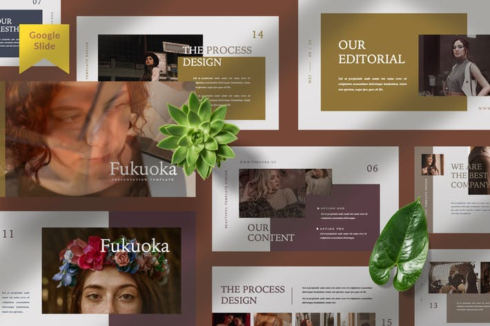 Thumbnail for Fukuoka Presentation Google Slide Template