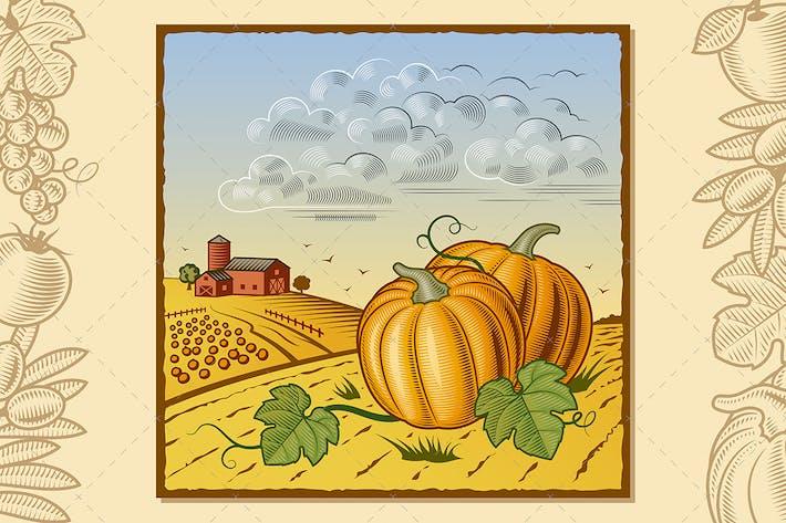 Thumbnail for Landscape With Pumpkins