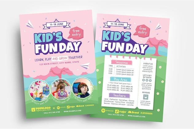 Kid's Fun Day Flyer Template