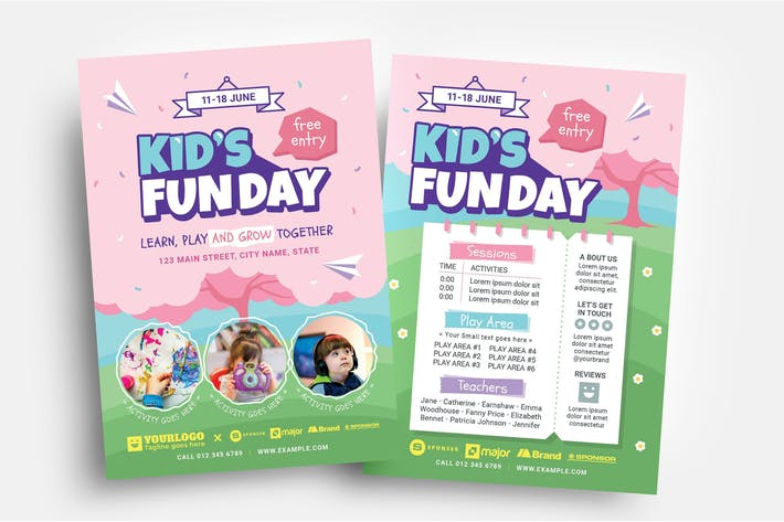 Thumbnail for Kid's Fun Day Flyer Template