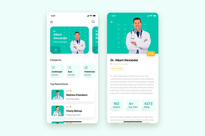 Thumbnail for Doctor Appointment Mobile App UI Kit Template