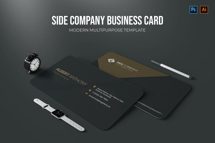 Thumbnail for Side Company - Business Card