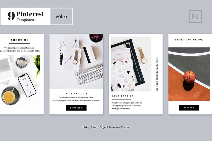 Cover Image For Pinterest Templates Vol. 6