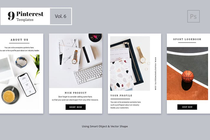 Thumbnail for Pinterest Templates Vol. 6