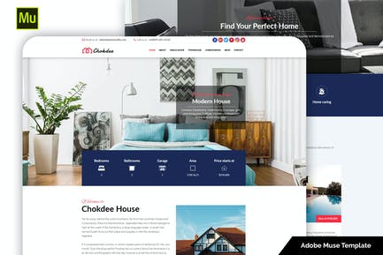 Chokdee - Адаптивный Шаблон музы недвижимости