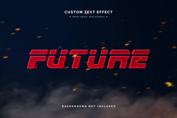 Mockup Futuriste Effet Texte 3D
