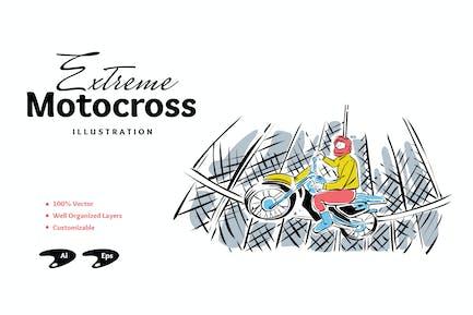 Extreme Motocross-Illustration