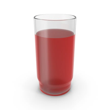 Glass With Red Juice