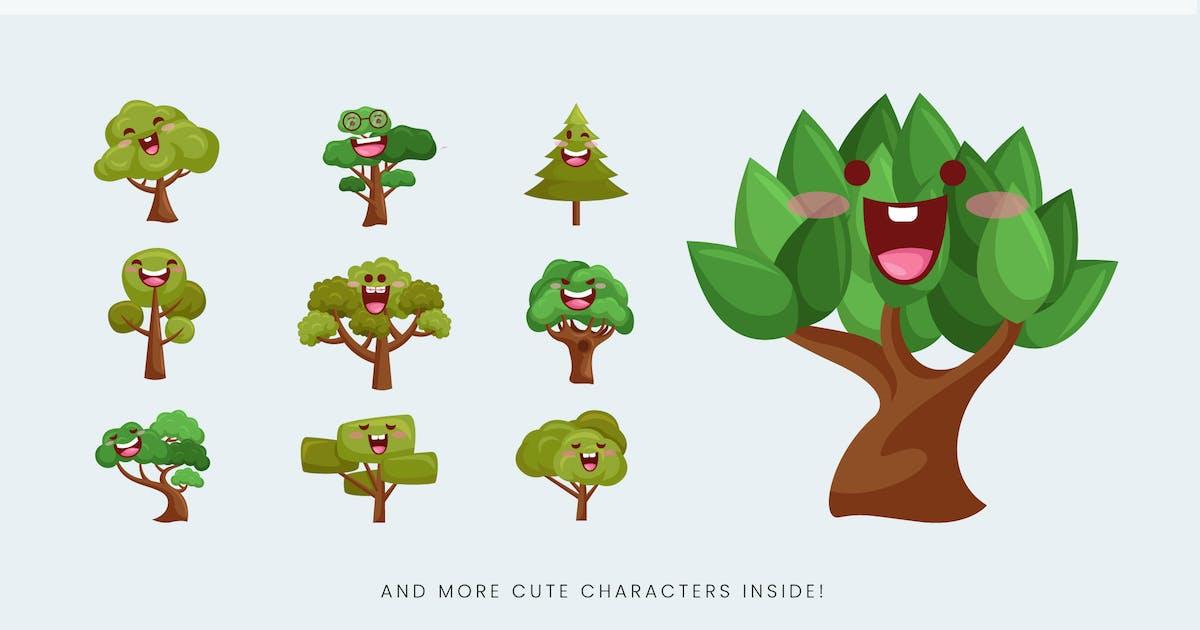 Download 11 Cute Eco Tree Vector Illustration Vol.1 by naulicrea