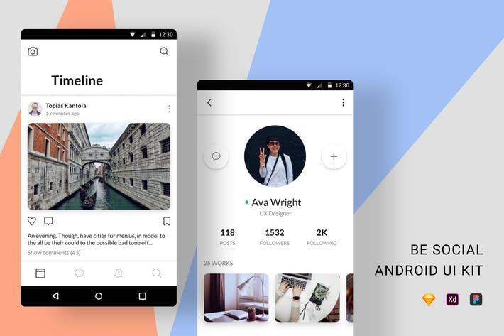 Be Social Android UI Kit