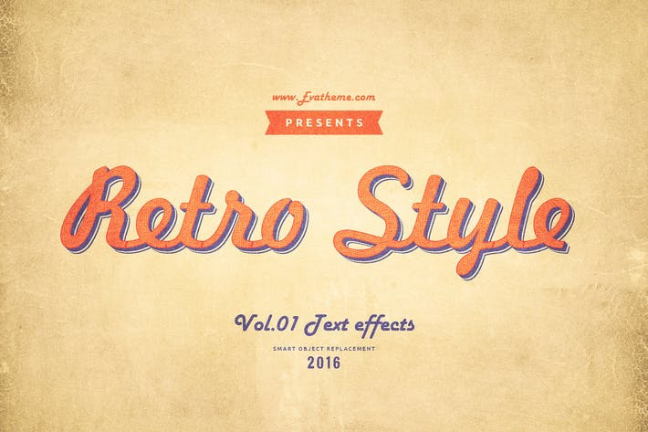 Thumbnail for Retro-Stil Texteffekte Vol.1