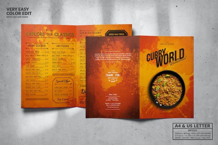 Thumbnail for Vintage Bifold Food Menu Design A4 & US Letter