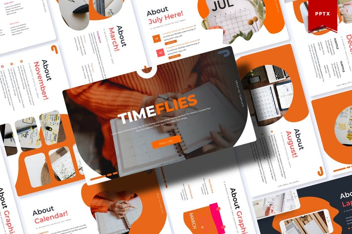 Thumbnail for Timeflies | Powerpoint Template