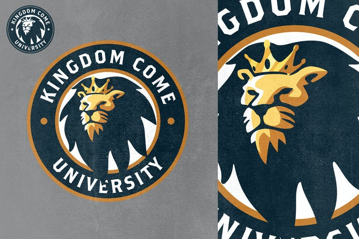 Thumbnail for Gold Crowned Lion Mascot Logo