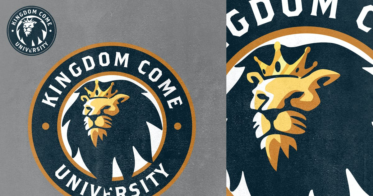 Download Gold Crowned Lion Mascot Logo by Suhandi