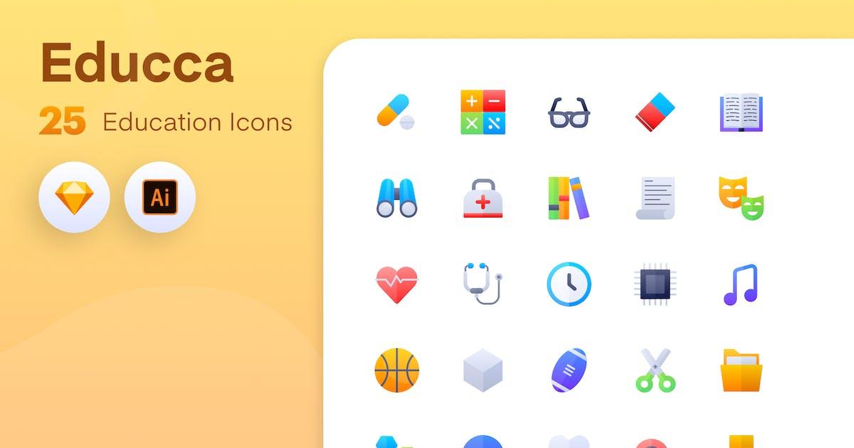 Download Educca - Education icons Vol.3 by sudutlancip