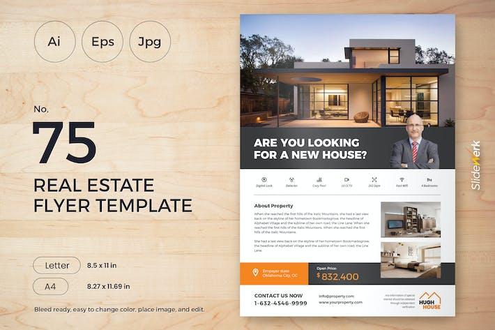 Thumbnail for Real Estate Flyer Template 75 - Slidewerk