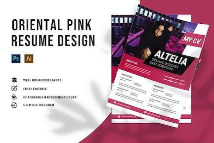 Oriental Pink | CV & Resume