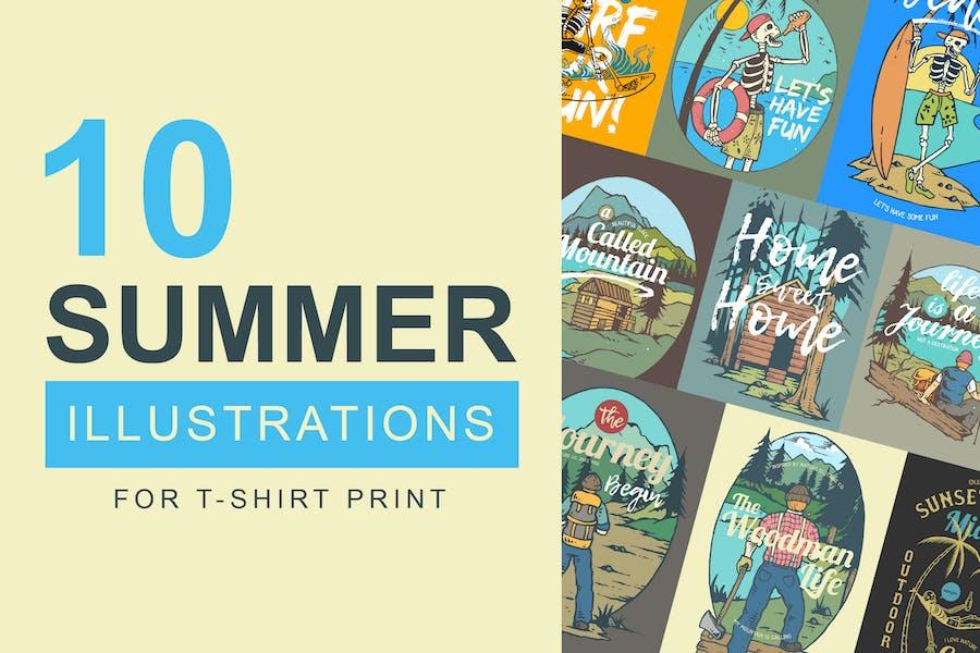 10 Summer Illustrations