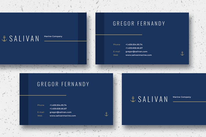 Thumbnail for Salivan Business Card Template