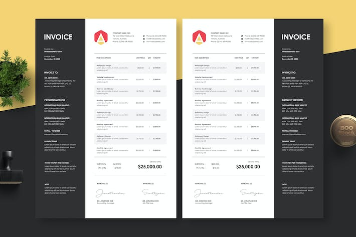Thumbnail for Invoice Template 28