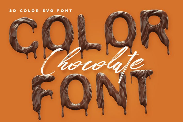 Thumbnail for Chocolate Color Font