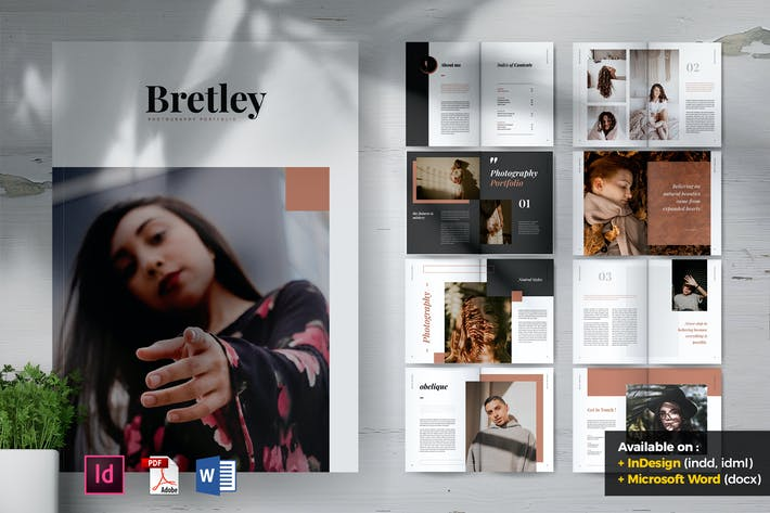 BRETLEY Creative Photography Portfolio Brochures