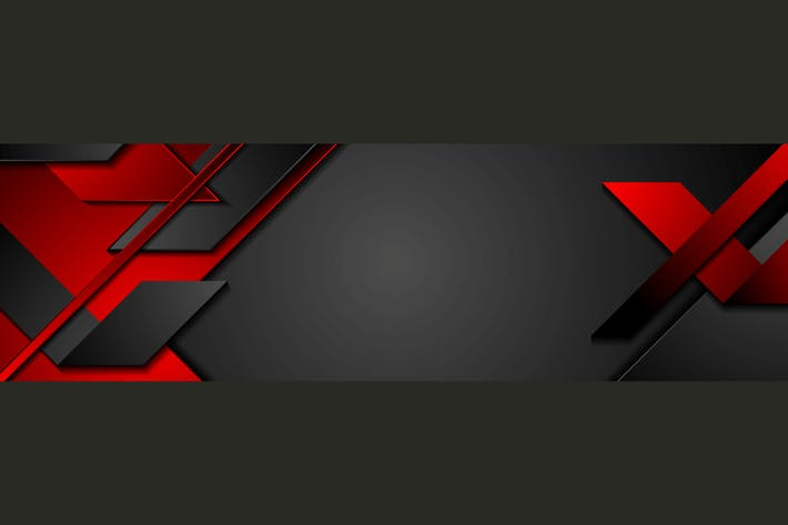 Thumbnail for Black and red geometric corporate banner design